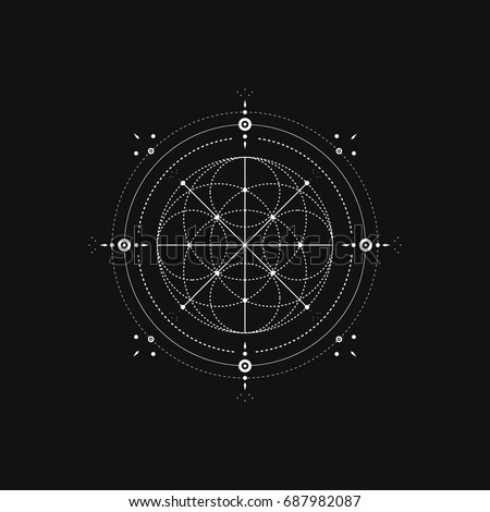 Sacred Geometry. Vector Illustration
