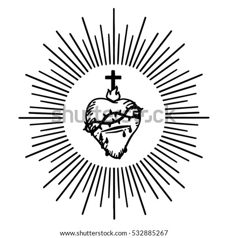 sacred heart of jesus isolated