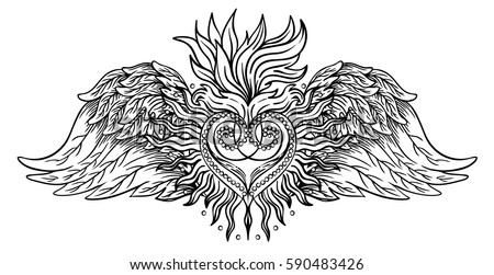 Free Sacred Heart Tattoo Vector Download Free Vector Art Stock