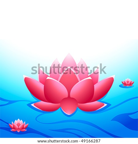 Sacred lotuses at the heaven's garden