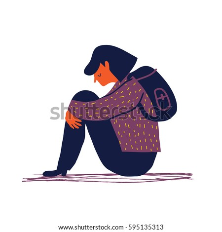 sad and depressed girl sitting