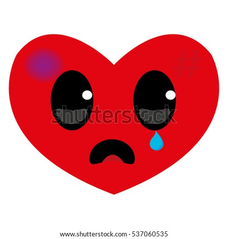 sad and wounded heart  hurt red
