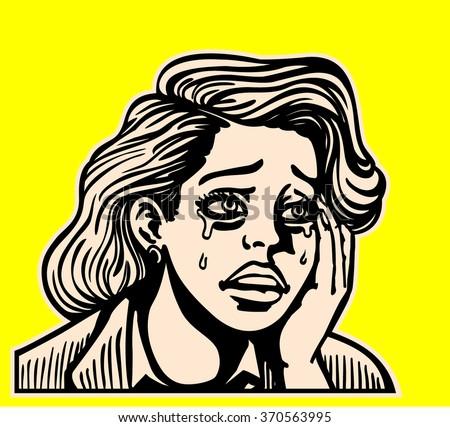 sad broken hearted girl crying