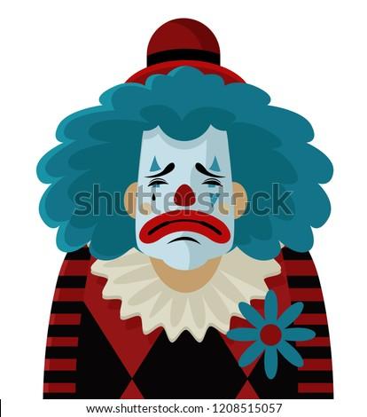 sad depressed clown