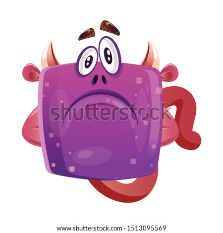 sad disappointed boxy purple