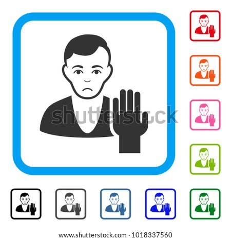 sad elector vector pictogram