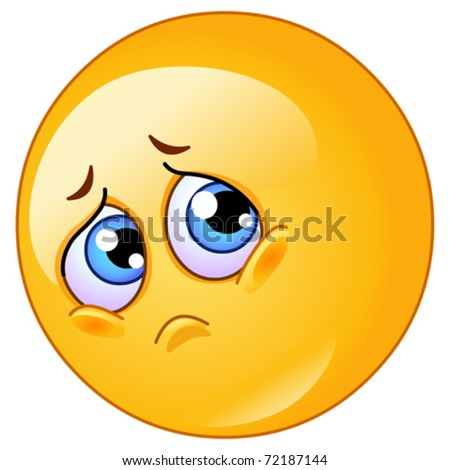 Sad emoticon - stock vector