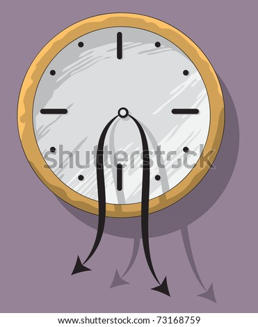 Sad hopeless Clock with weak hanging Pointers