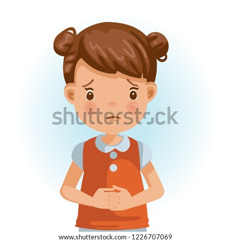 sad little girl the face