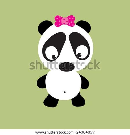 Sad Panda Vector