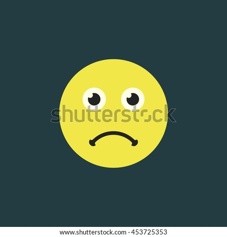 sad smile. frowning face emoticon