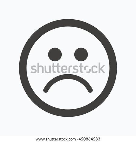 sad smiley icon bad feedback