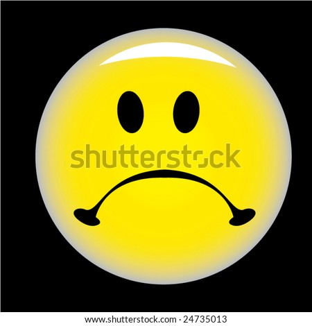 smiley background. stock vector : Sad smiley on