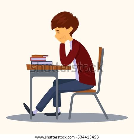 sad student sitting in class