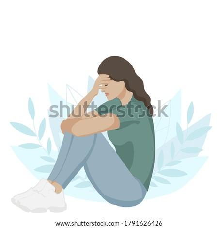sad woman in depression sad