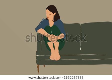 sad woman sitting with bent