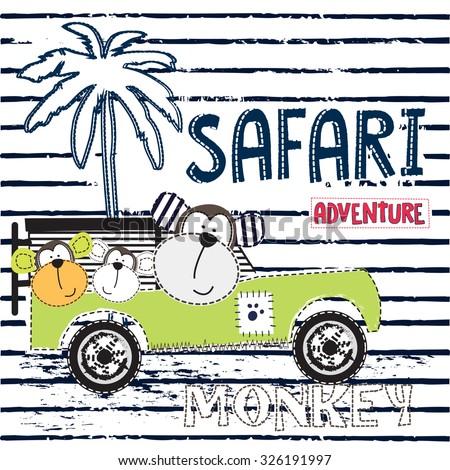 safari adventure with monkey