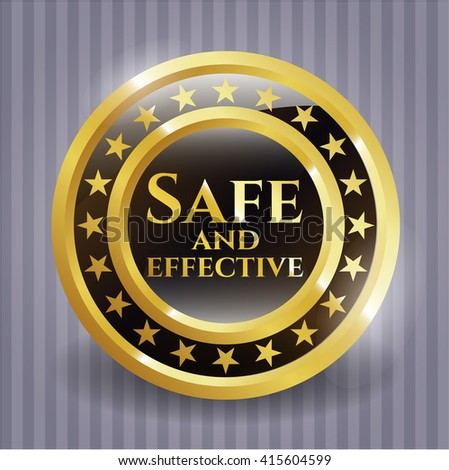 Safe and effective gold badge