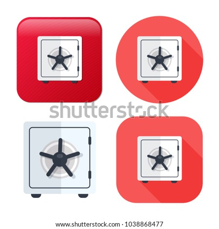 safe box icon - vector security illustration - wealth protection - money saving