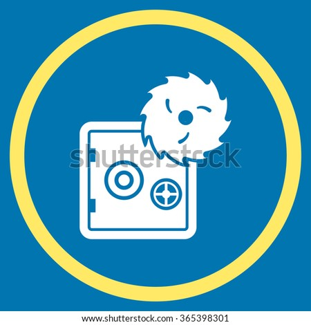 safe breaking vector icon