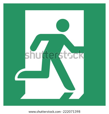 Safe condition sign,Emergency exit