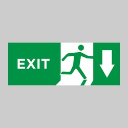 Safe condition sign,Emergency exit direction
