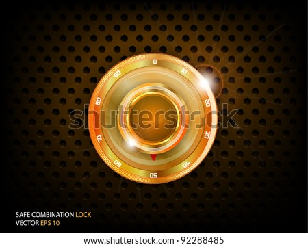 Safe Gold Combination Lock