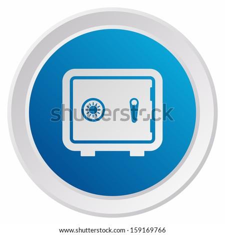 Safe (GRX btn metallic, blue version) - stock vector