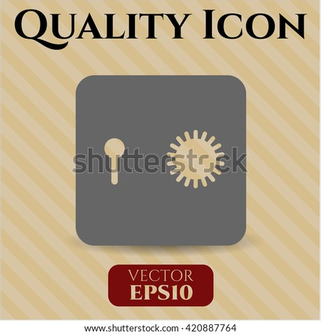 Safe (Safety deposit box) vector icon