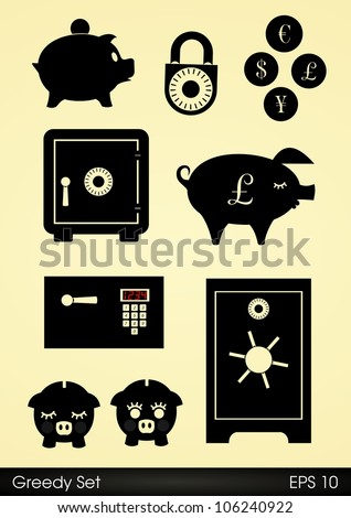 Safes, locks and piggy banks