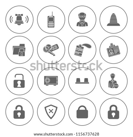safety and Security icons set - protection sign and symbols