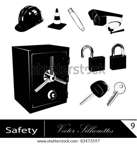 Safety and security.Vector illustrations