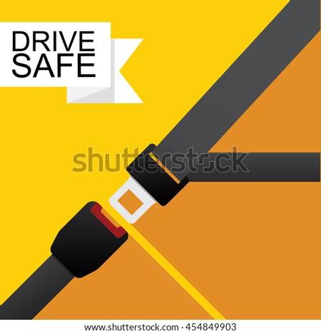 Safety belt vector flat design.