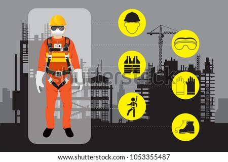 safety equipment, construction worker