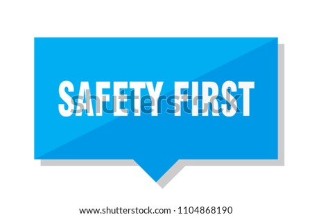 safety first blue square price tag