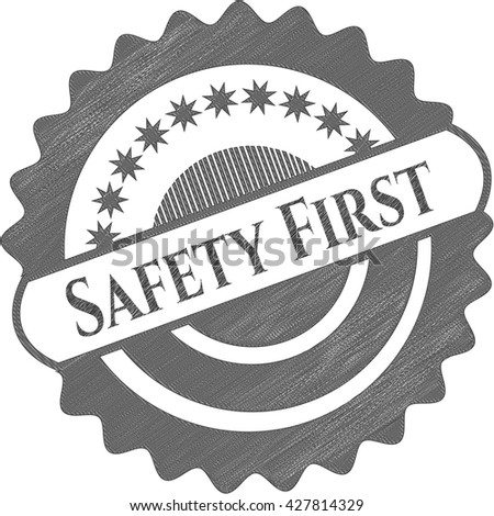 Safety First pencil draw