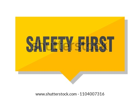 safety first yellow square price tag
