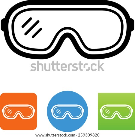 Safety Goggles Vector Safety Glasses Symbol Vector