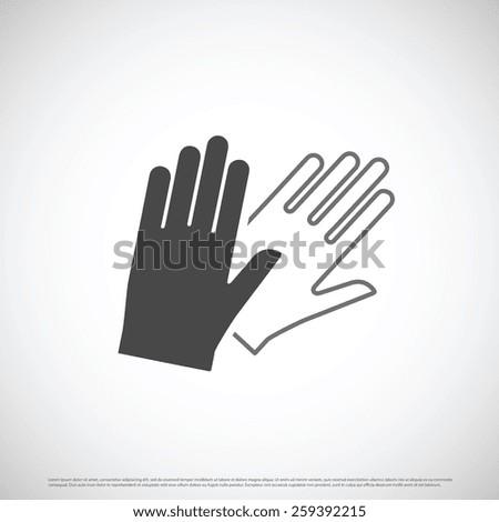 safety gloves icon design