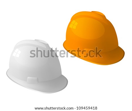Safety hat isolated on white.