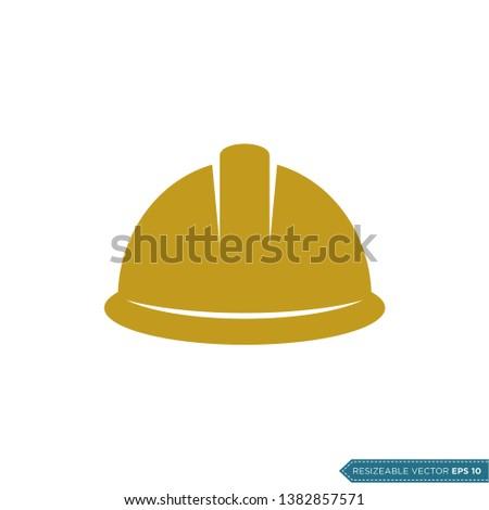 Safety Helmet Icon Vector Template Illustration Design