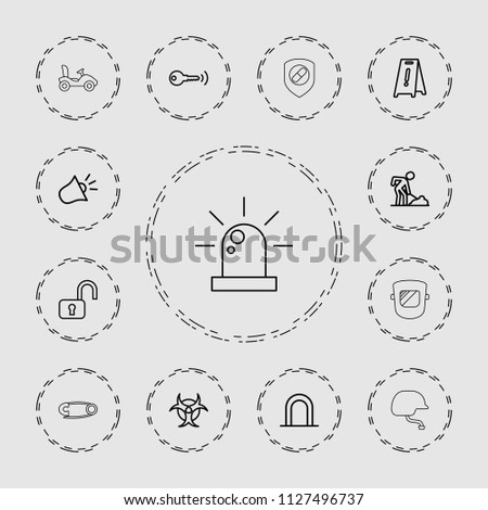 safety icon collection of 13