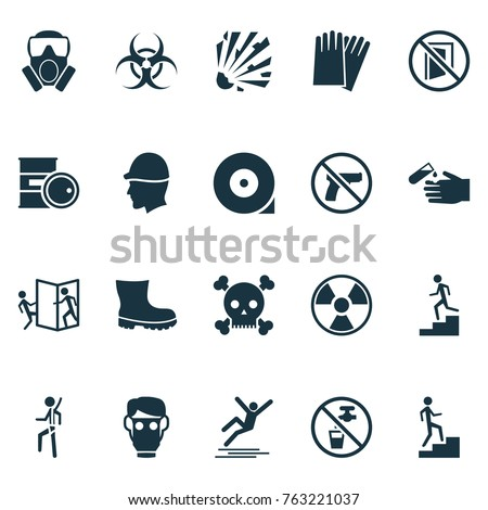 safety icons set with chemical