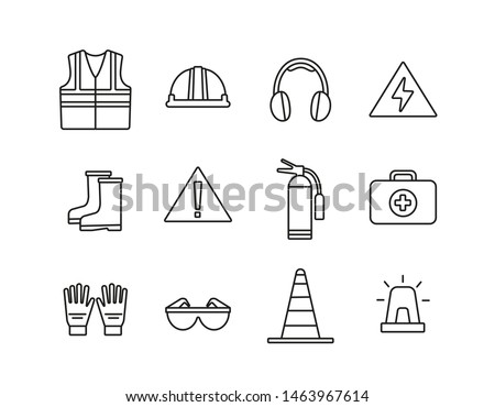 Safety icons. Work. Warehouse icon.