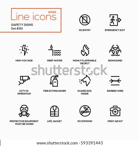 safety signs   modern vector