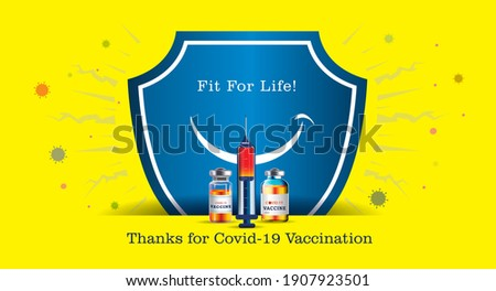 safety. Vaccine. vaccination and preventing COVID-19. Boost your immunity system. world immunization week against corona virus. concept