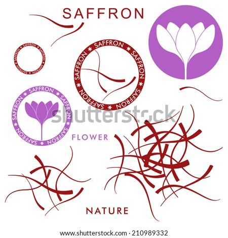 Saffron. Logo. Vector illustration