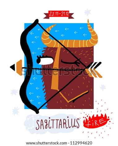 Sagittarius. zodiac vector drawing