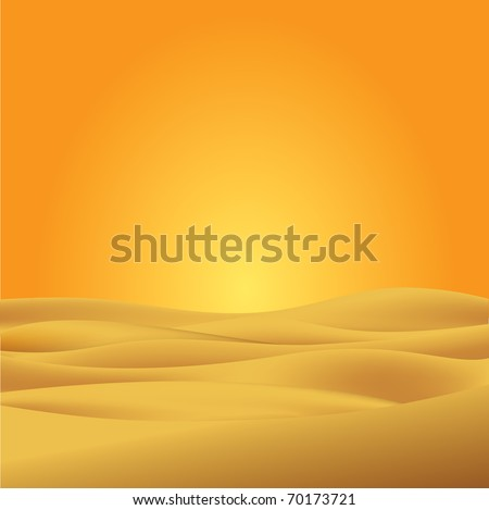 sahara desert illustration