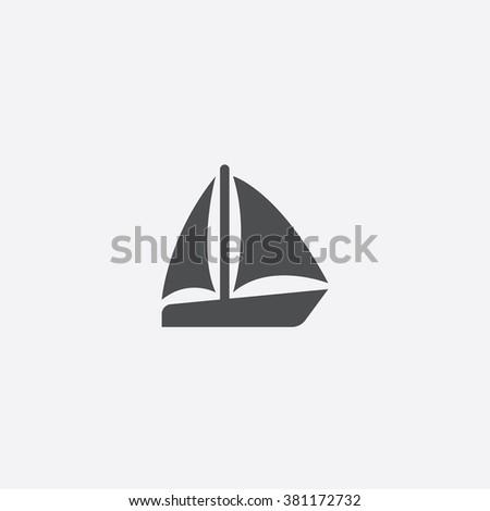 sail boat icon vector boat